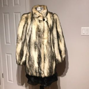 Faux Fur Evening Night Out Cocktail Casual Fox M
